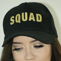 Squad Cap - Black with Gold Writing