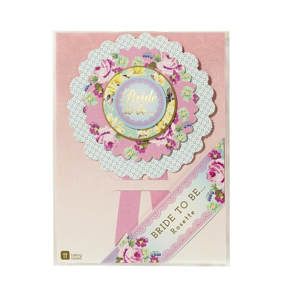 Bride to Be Truly Hen Rosette
