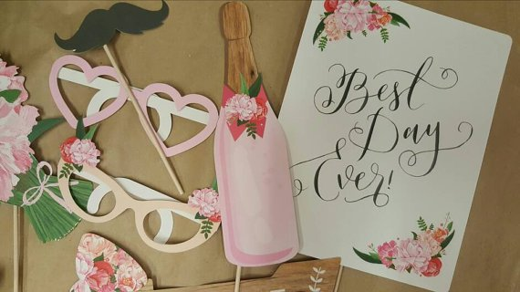 Vintage Wedding Photo Booth Props