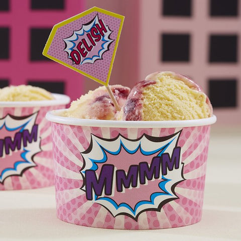 Pop Art Superhero Treat Tubs