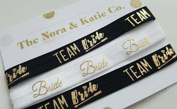Team Bride Chokers - Black & Metallic Gold
