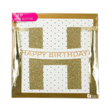 Gold Glitter Happy Birthday Bunting