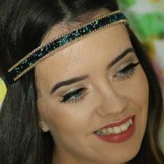 Emerald Green Sparkle Glitter Headband