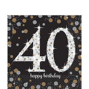 Sparkling Celebration 40th Party Napkins