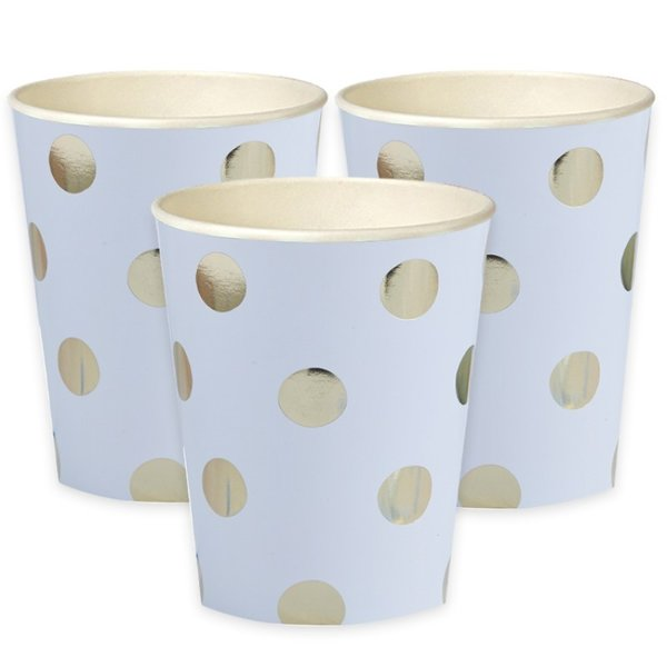 Metallic Polka Dot Party Cups