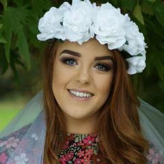 Large White Floral Crown and Veil