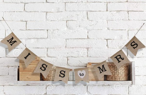 Miss to Mrs Burlap Bunting