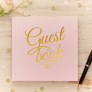 Pink & Gold Guest Book - Hens night - Wedding
