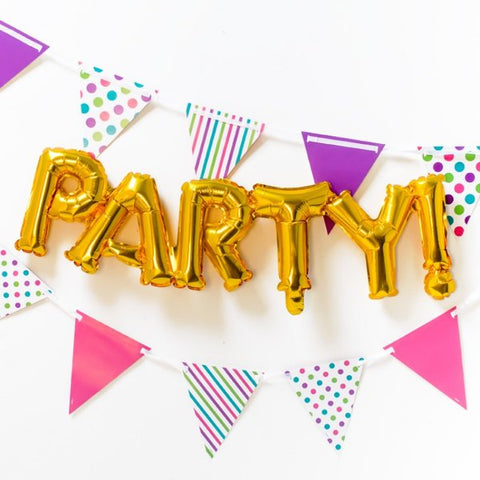 Gold Party Foil Phrase Balloon