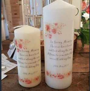 In Memory Wedding Candle