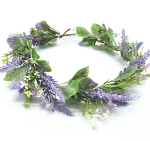 Lavender Girls flower crown