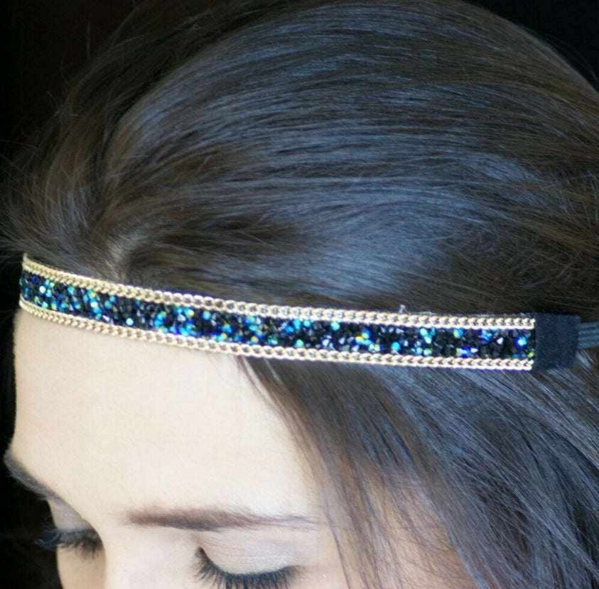 After midnight sparkle head band