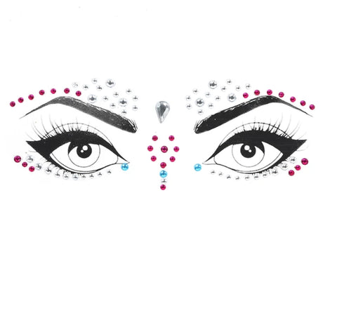 Bride Tribe 3D Face Tattoo Crystal Stickers