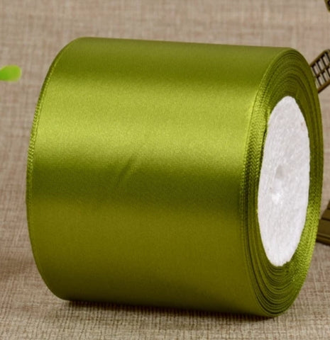 Olive Green Wedding car ribbon