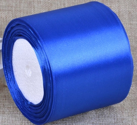 Royal Blue Wedding car ribbon