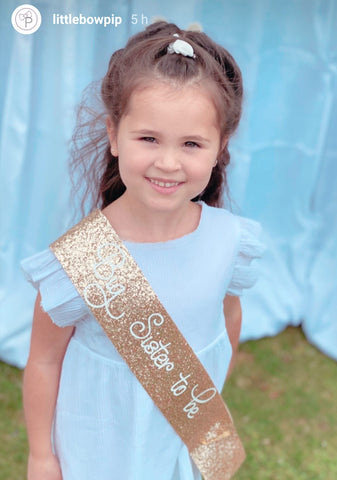 Big Sister Sash - Baby Shower