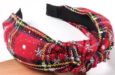 Traditional christmas hairband - red