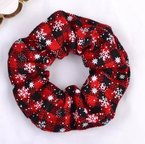 Traditional christmas scrunchie - red & black