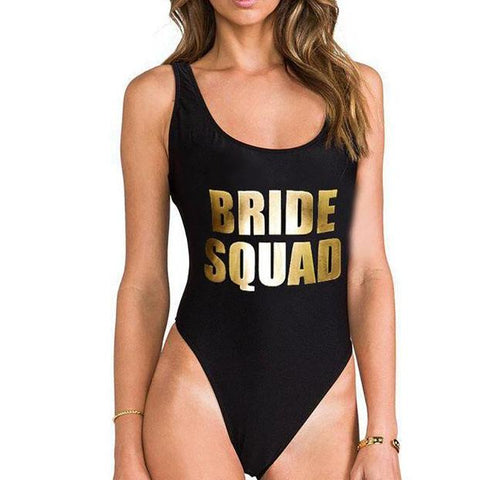 Bride Squad All in one swimsuit