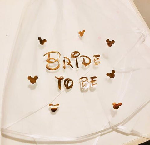 Disney Inspired Bride to be Veil - Rose Gold