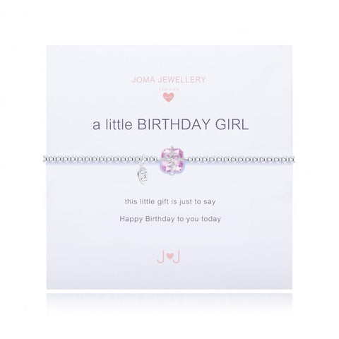 CHILDREN'S A LITTLE BIRTHDAY GIRL BRACELET