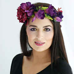 Purple Floral Crown