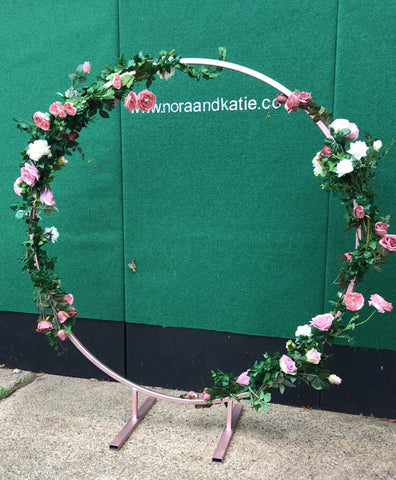 Rose gold hoop hire