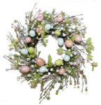PEARLESCENT EGG WREATH 40CM