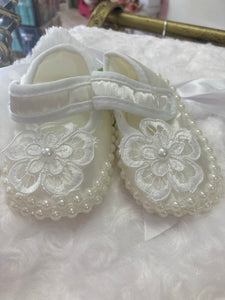 Christening Shoes - Ivory