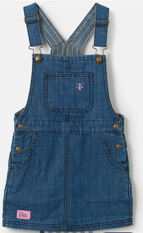 Maisie Pinafore - Washed Denim
