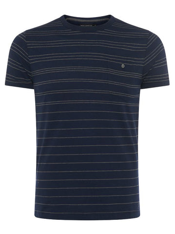 Striped T-shirt - Marine