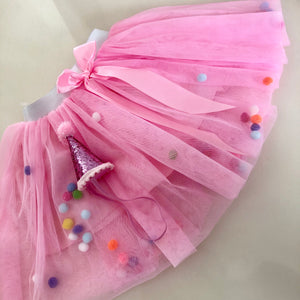 Birthday Girl Tutu & Hat Set - Pom Pom Party