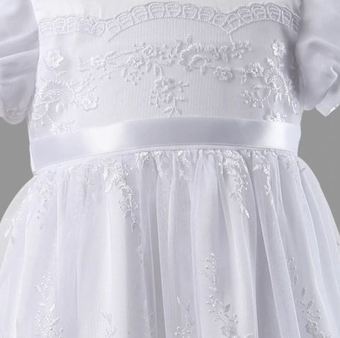 White Lace Christening Gown