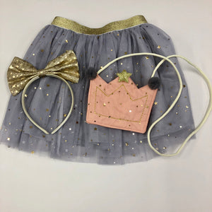 Grey Tutu Skirt - 3 Piece Set (Age 8-10)