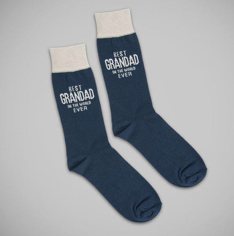 Best Grandad - Blue Cotton Socks