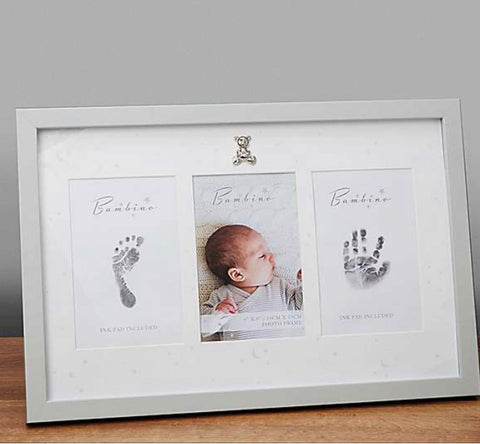 Bambino by Juliana Hand & Foot Print 4 x 6 inch Photo Frame Kit