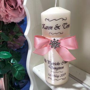 Wedding Candle - Bow
