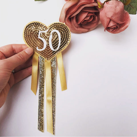 Birthday Rosette - Age Badge