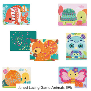 Janod Lacing Game Animals 6Pk