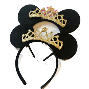 Team Bride Disney Ears - Black & Gold