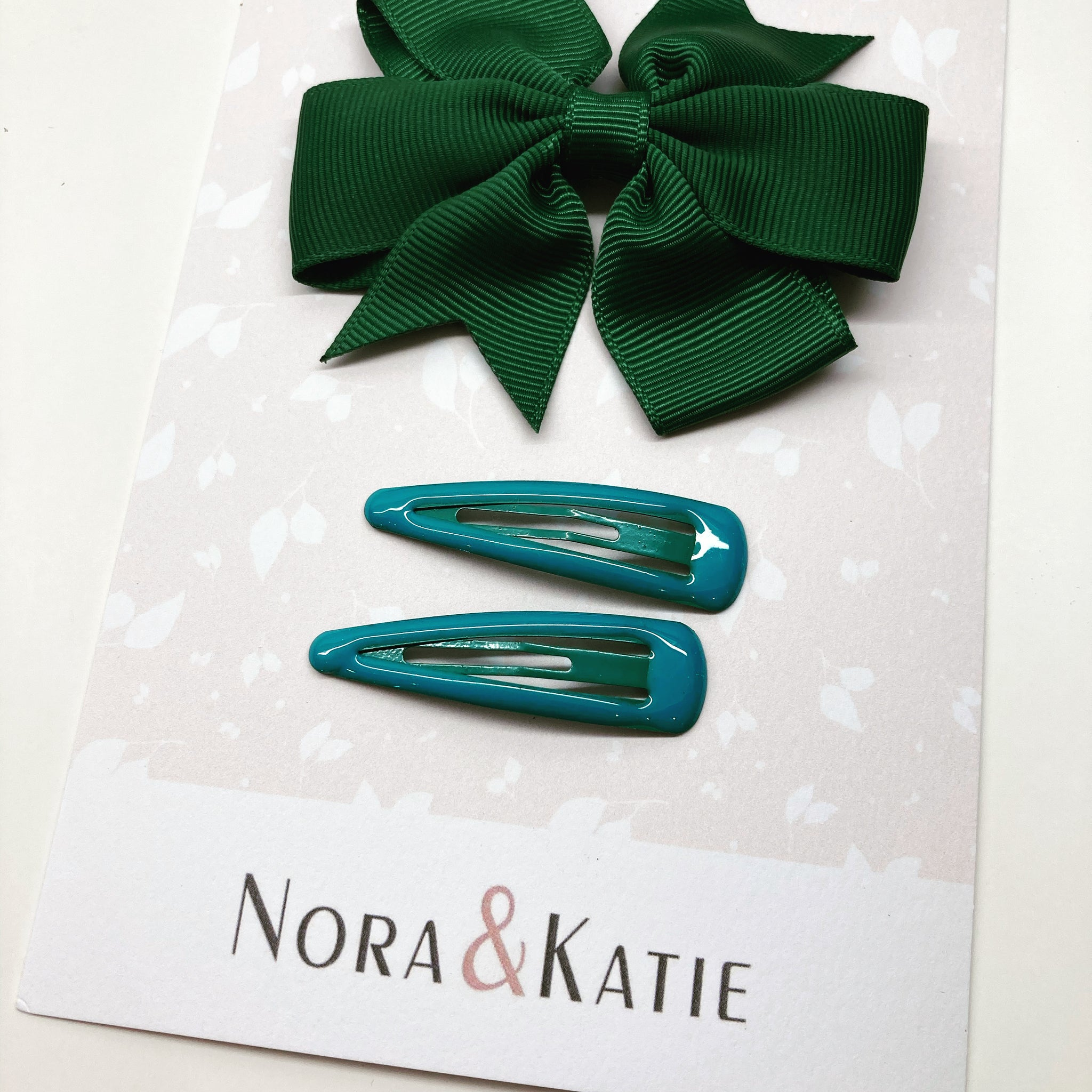 Green Hair Clips - Back to School