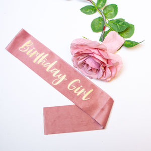 Velvet Birthday Girl Sash - Swan Princess Party