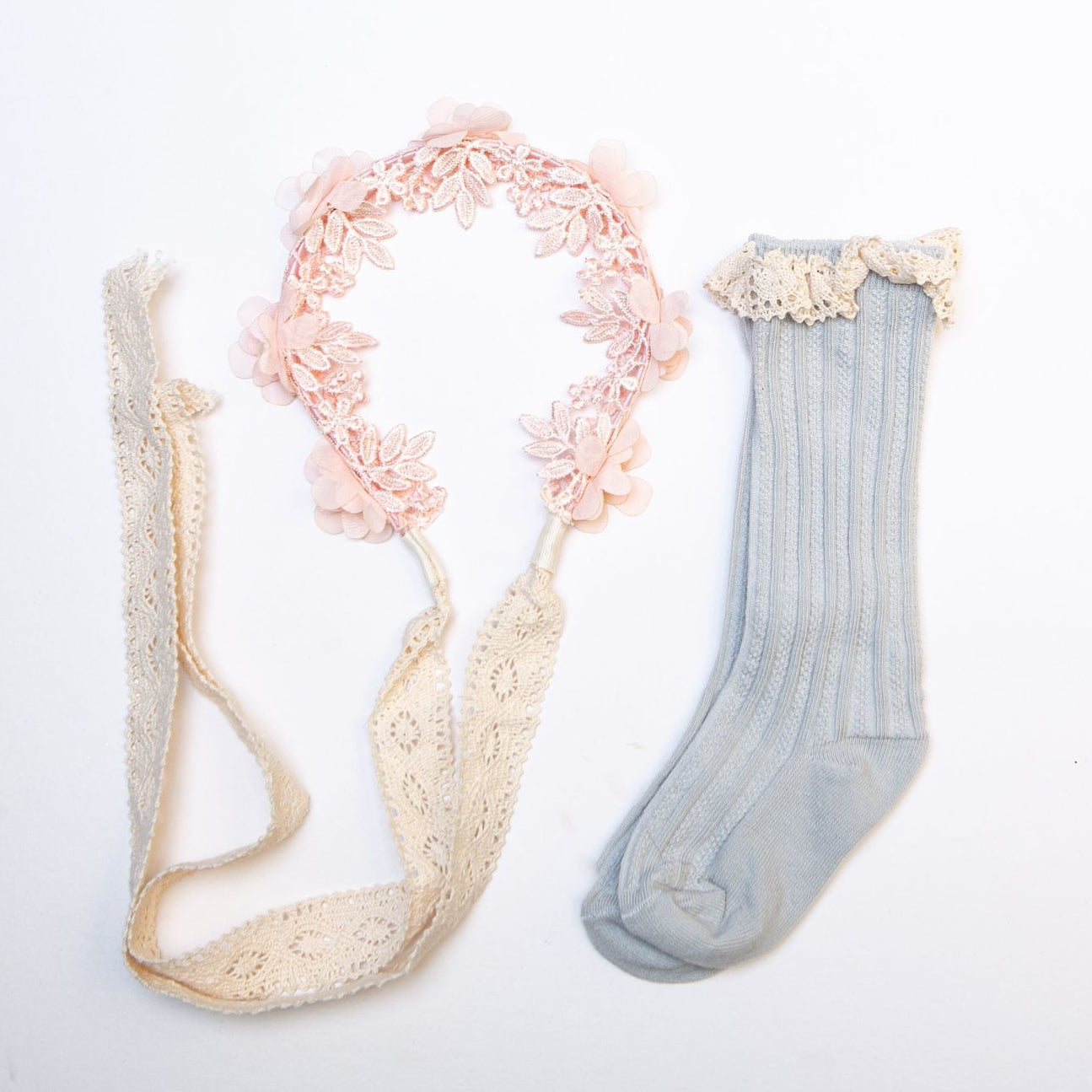 Soft Pink Hairband & Socks Set - Swan Princess Party