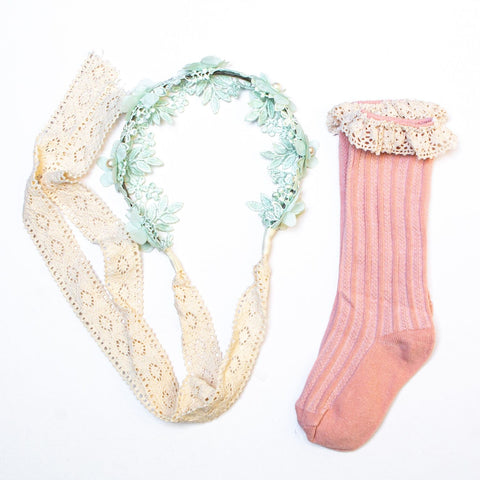 Mint Hairband & Socks Set - Swan Princess Party