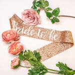 Bride to be Glitter Sash - Rose Gold Hen Party