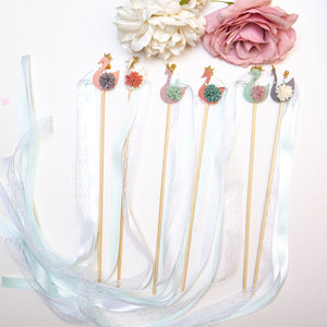 Lace Party Wands - Swan Princess Party