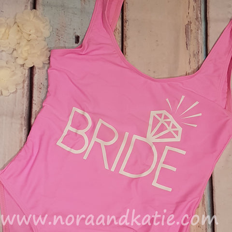 Pink Bride All in one swimsuit