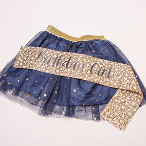 Tutu & Sash Birthday Girl Set - Little Stars Party