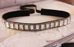 Embellished black and silver square headband