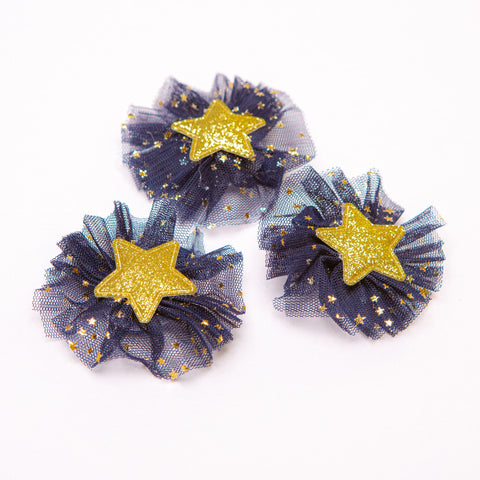 1 Gold Star Hair Clip - Little Stars Party